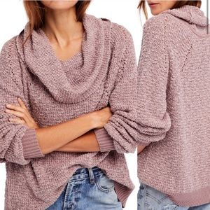 Free People by your side cozy cowl neck sweater